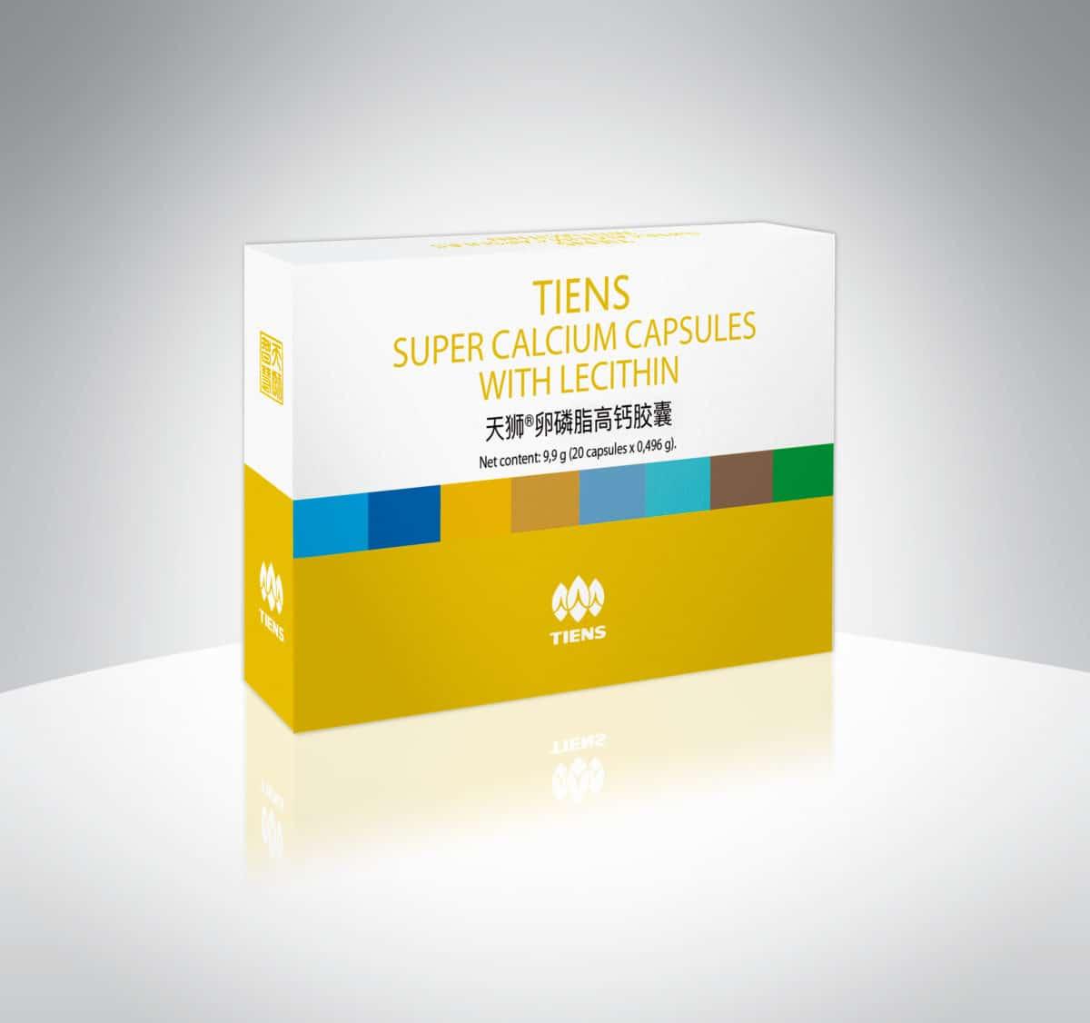 tiens super calcium capsules with lecithin